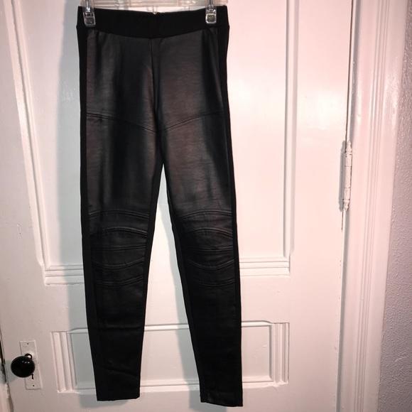 918d99c0fd Zara Pants | Wb Faux Leather Front Moto Biker Leggings S | Poshmark